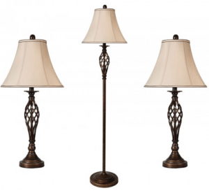 American Freight Brass Lamps Package