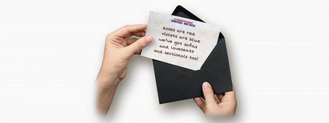 American Freight greeting card, sofas from $198