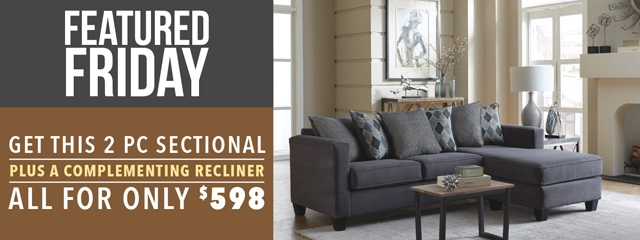 Sectional and recliner deal