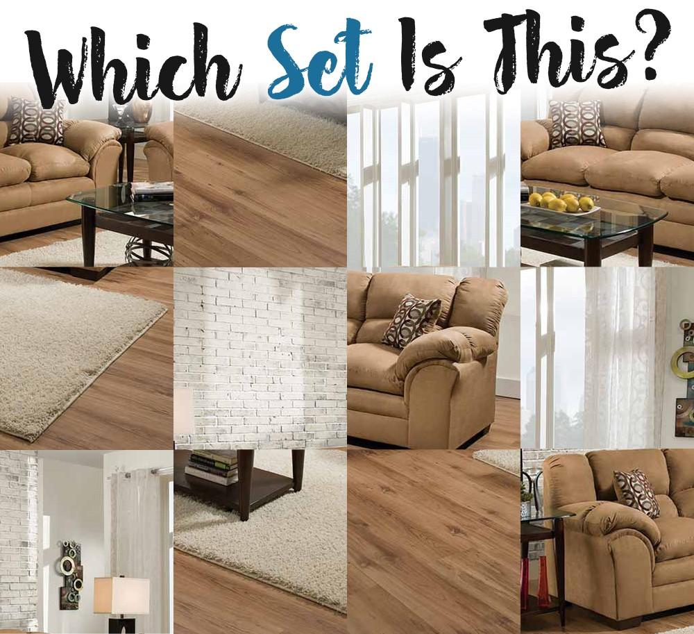 Tan Sofa and Loveseat Set