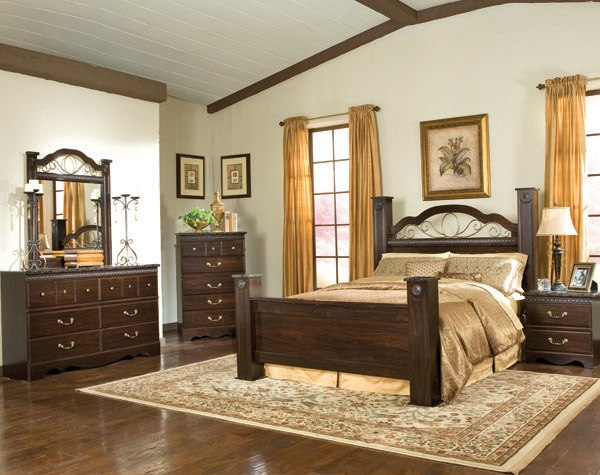 featured friday sorrento bedroom set american freight 14006 | m 04000 sorrento poster bed nc