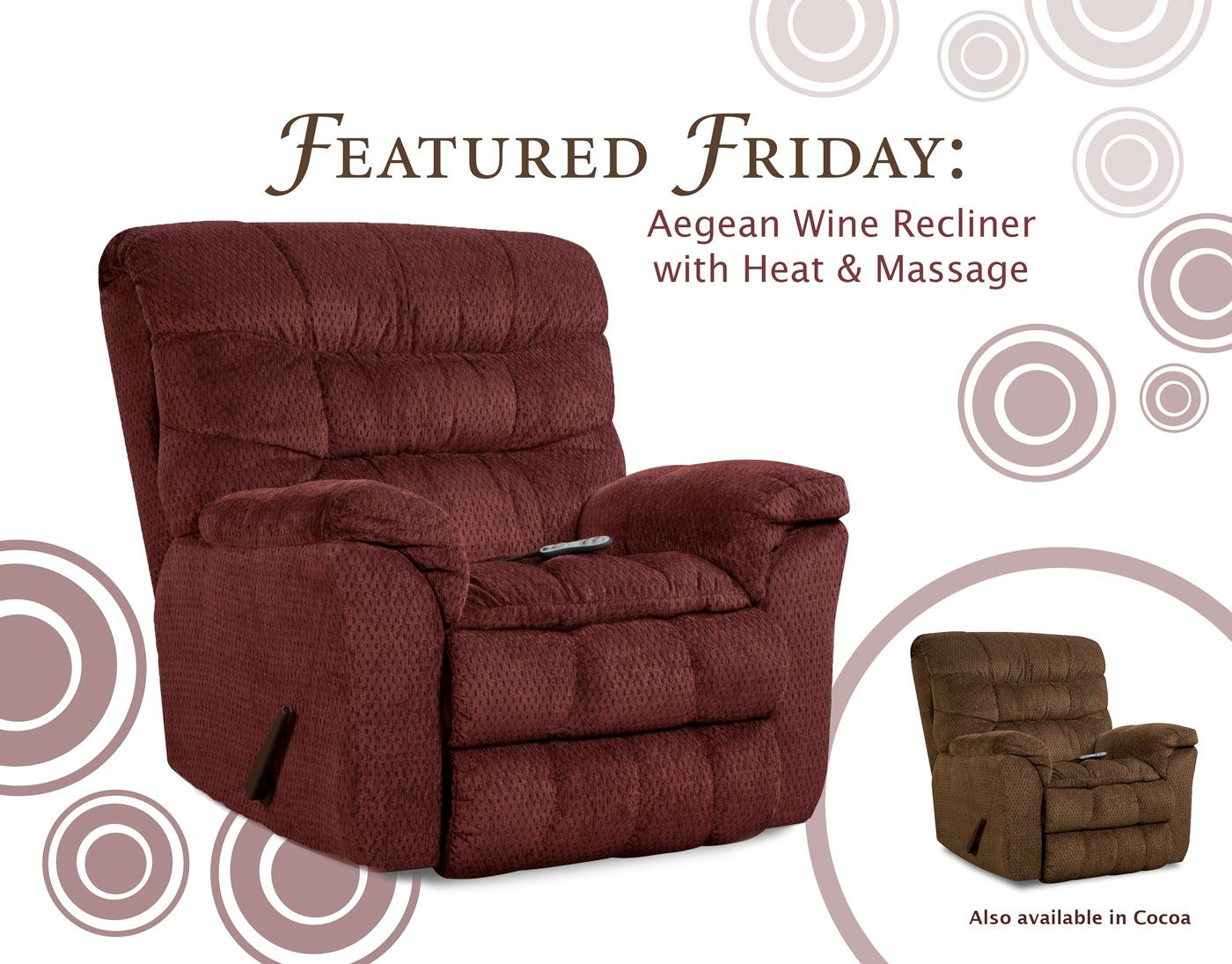 Featured Friday: Aegean Wine Recliner with Heat & Massage