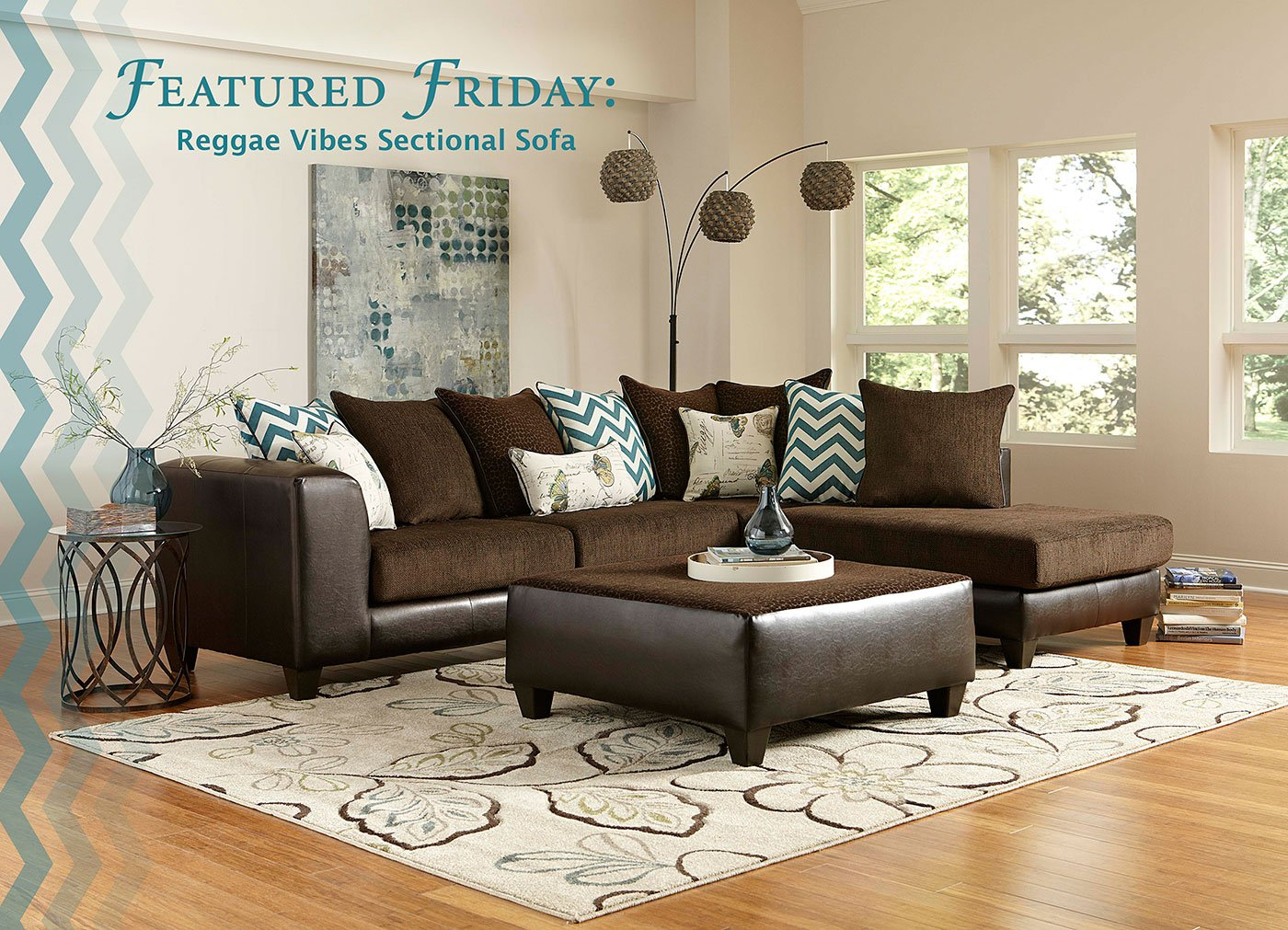 Featured Friday: Reggae Vibes 2 Piece Sectional Sofa