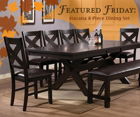 Featured Friday: Havana 8 Piece Dinette Set
