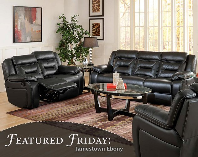Featured Friday: Jamestown Ebony Reclining Sofa and Loveseat