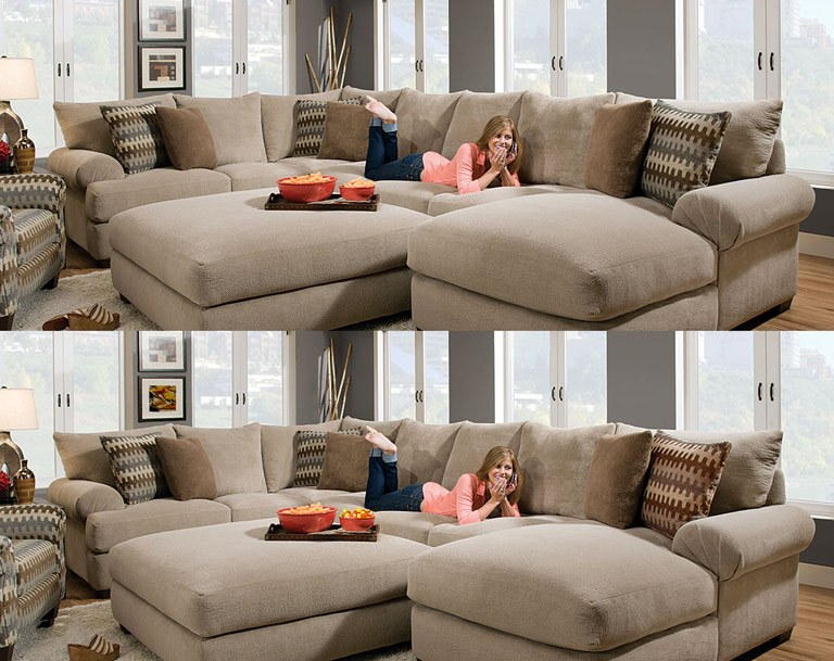 Tuesday Teaser: Find the Differences with the Bacarat Taupe 3 Piece Sectional