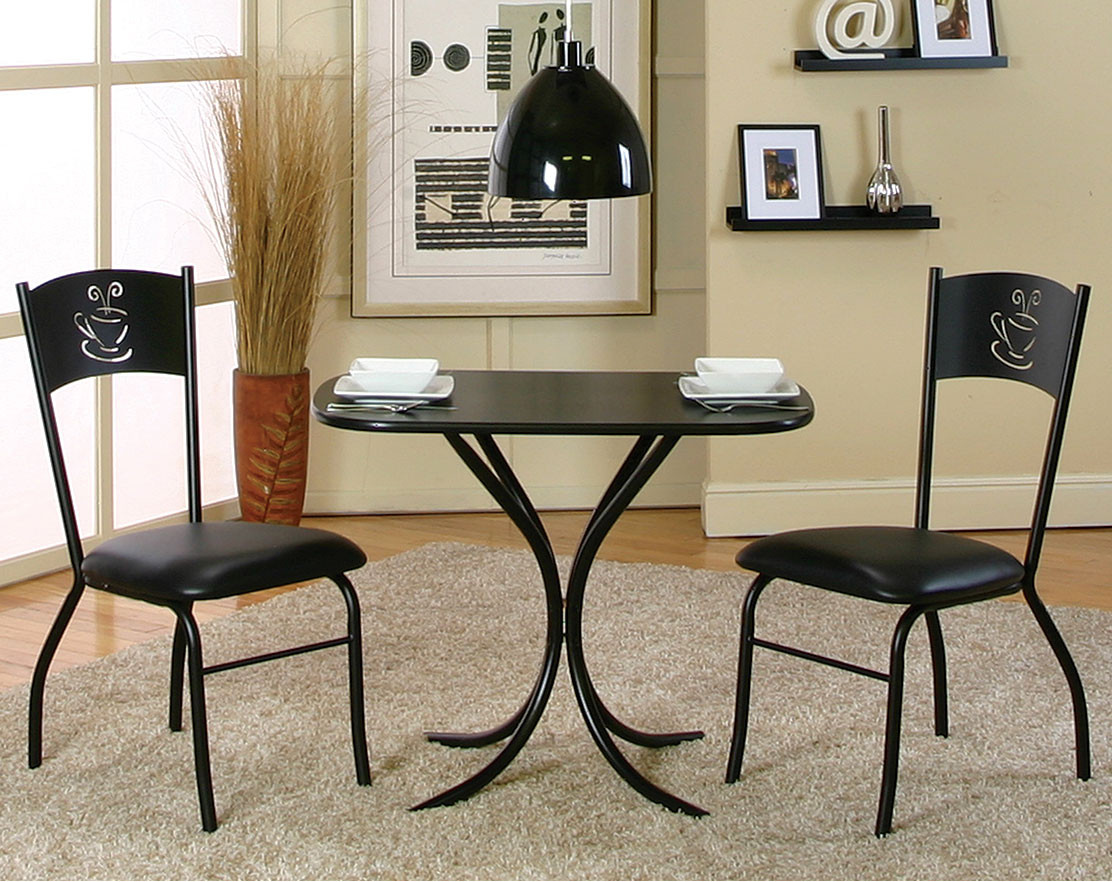 3 piece kitchen set bistro cameo piece counter height set black table with coffee cutout detail american