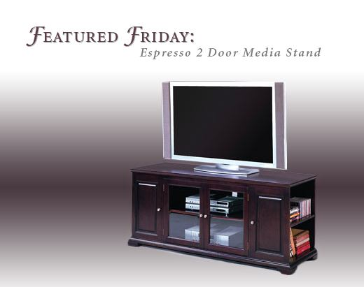 Featured Friday: Espresso 2 Door Media Stand