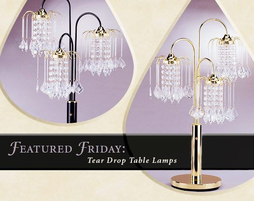 Featured Friday: Rain Drop Table Lamp