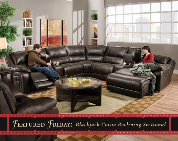 Featured Friday: Blackjack Cocoa Reclining Sectional