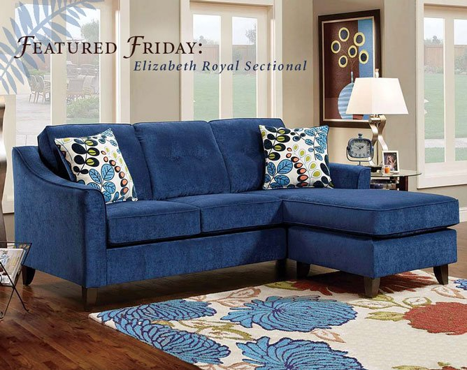 Featured Friday: Elizabeth Royal 2 Piece Sectional Sofa