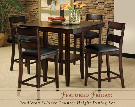 Featured Friday: Pendleton 5-Piece Counter Height Dining Set