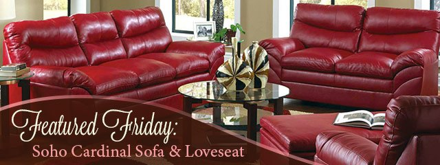 Featured Friday: Soho Cardinal Sofa and Loveseat Set