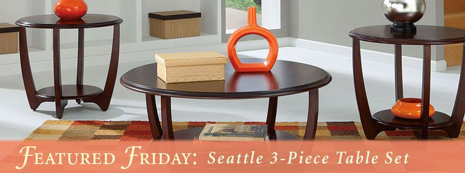 Featured Friday: Seattle 3 Piece Table Set