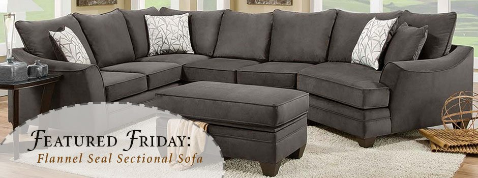 Featured Friday: Flannel Seal 2 Piece Sectional Sofa