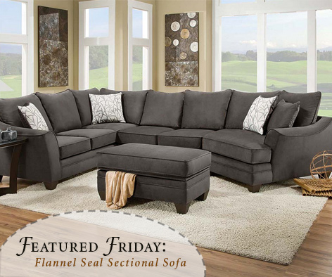 Flannel Seal 2 Piece Sectional Sofa