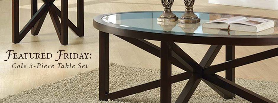 Featured Friday: Cole 3 Piece Table Set