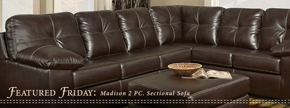 Featured Friday: Madison Two Piece Sectional Sofa