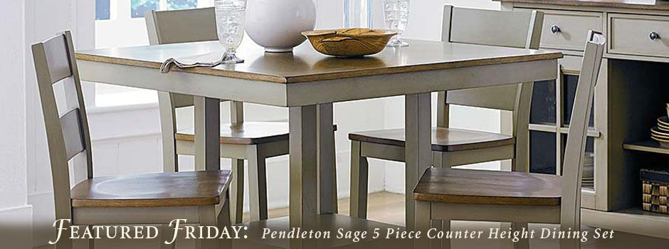 Featured Friday: Pendleton Sage 5 Piece Counter Height Dining Set