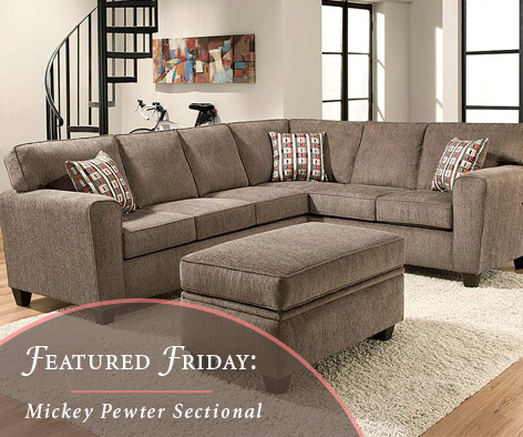 Mickey Pewter Sectional Sofa