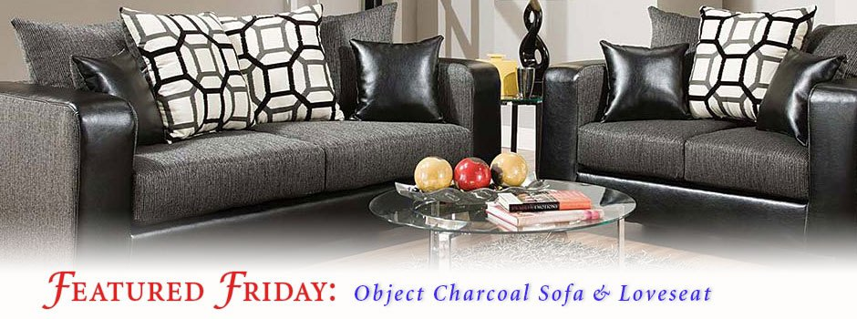 Featured Friday: Object Charcoal Sofa and Loveseat