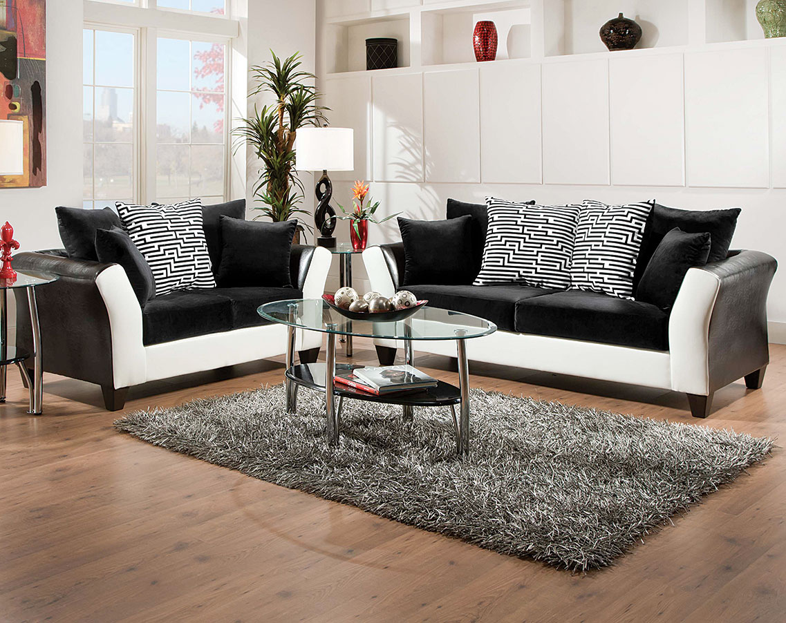 Zig Zag Sofa and Loveseat