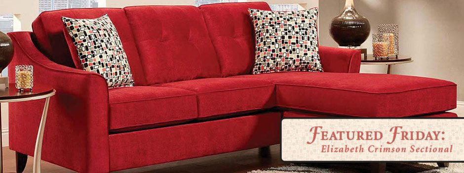 Featured Friday: Elizabeth Crimson 2 Piece Sectional Sofa