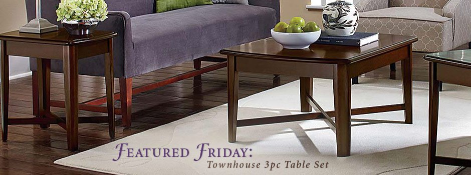 Featured Friday: Townhouse 3 Piece Table Set