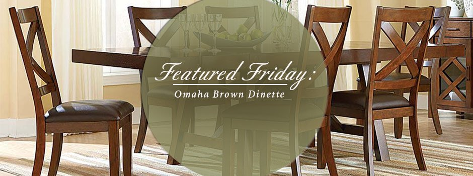 Featured Friday: Omaha Brown 6 Piece Dinette Set