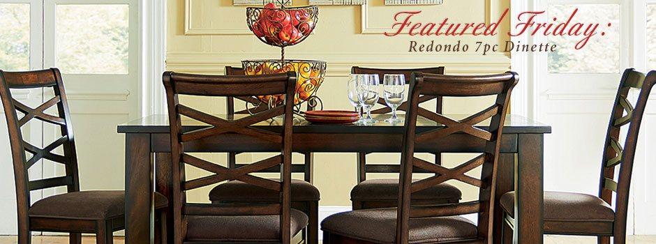Featured Friday: Redondo 7 Piece Dinette Set