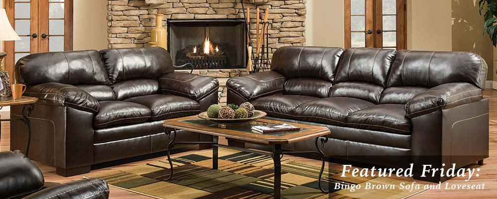 Featured Friday: Bingo Brown Sofa and Loveseat
