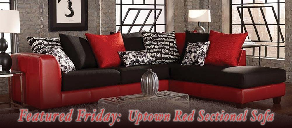 Featured friday uptown red sectional sofa american for 2 piece red sectional sofa