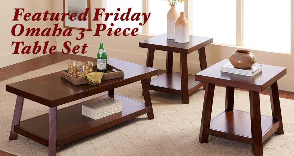 Featured Friday: Omaha 3 Piece Table Set