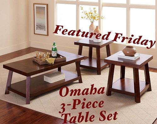 Omaha 3 Piece Table Set