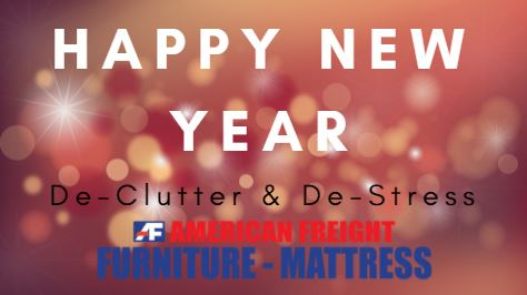 New Year's Resolution : De-clutter to De-stress