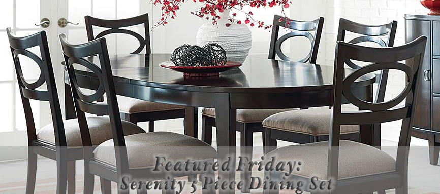 Featured friday serenity 5 piece dining set american freight blog for American freight 7 piece living room set