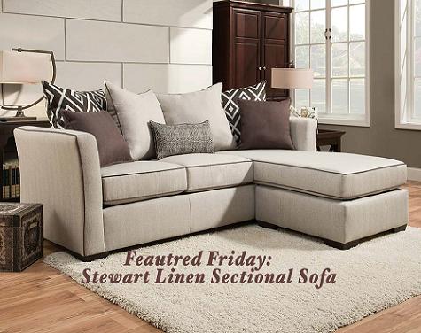 Stewart Linen 2 Piece Sectional Sofa
