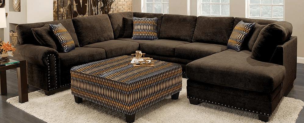 Featured Friday: Bingo Chocolate Brown 3 Piece Sectional Sofa