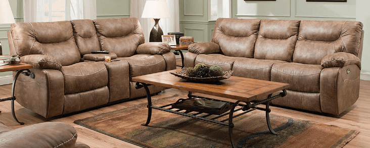 Featured Friday: Topgun Saddle Reclining Sofa and Loveseat