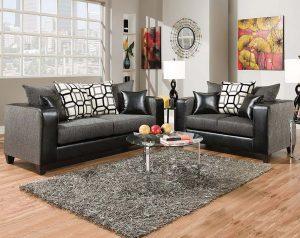 Object Charcoal Sofa & Loveseat