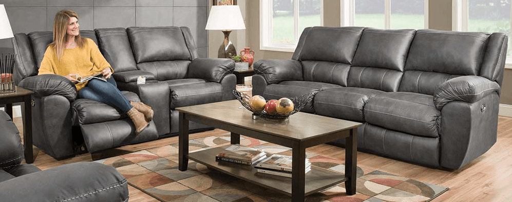 Featured Friday: Shiloh Granite Reclining Sofa and Loveseat Set