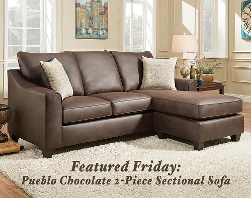 Pueblo Chocolate 2 Piece Sectional Sofa