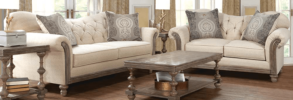 Featured Friday: Siam Parchment Sofa & Loveseat