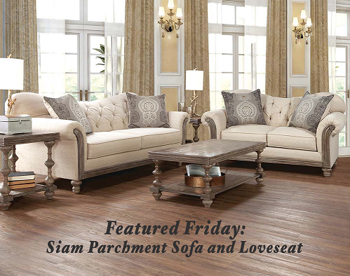 Magnificent Featured Friday Siam Parchment Sofa Loveseat American Lamtechconsult Wood Chair Design Ideas Lamtechconsultcom