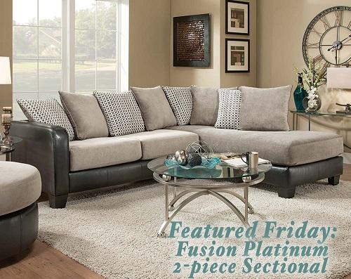 Fusion Platinum Sectional Sofa