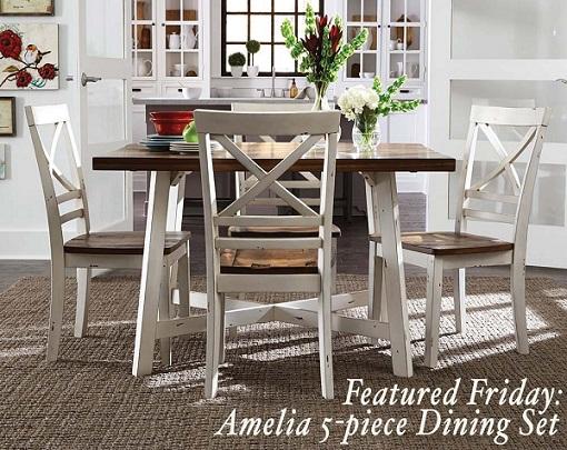 Amelia 5 Piece Dining Set