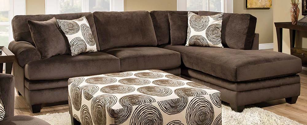 Featured Friday: Groovy Chocolate Two Piece Sectional Sofa