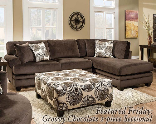 Groovy Chocolate 2 PC. Sectional Sofa