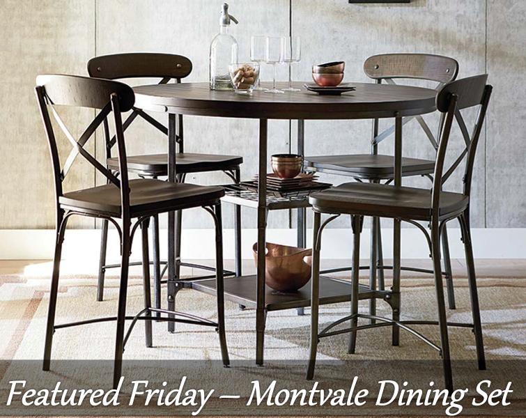 Montvale Pub Height 5 Piece Dining Set