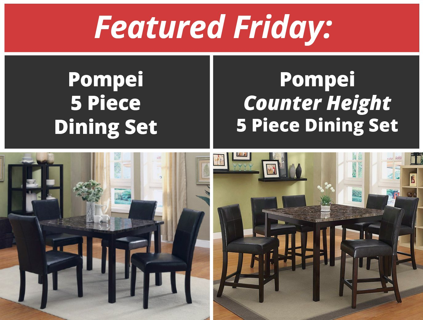 Featured Friday: Pompei Dining Sets